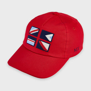 Mayoral Red Flags Boys Cap - 10066