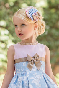 SS20 Dolce Petit Blue & Pink Floral Hairband - 2252DP