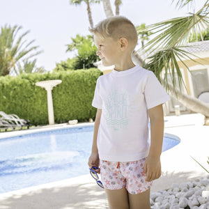 SS20 Dolce Petit Coral Star Boys Swim Shorts - 2418B