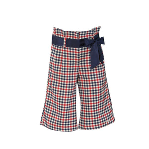 AW20 Miranda Navy & Red Check Culotte Set - 266