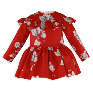 AW19 Miranda Girls Red Floral Dress - 283V