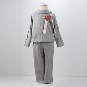 Loan Bor Pink & Grey Lounge Suit