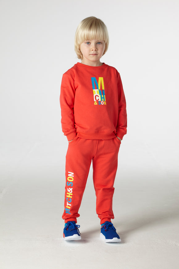 Mitch & Son Candleriggs Red Logo Tracksuit
