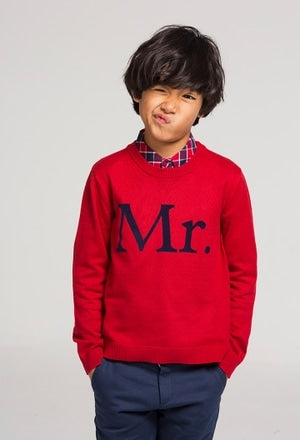 SALE Boboli Mr. Red & Navy Trouser Set