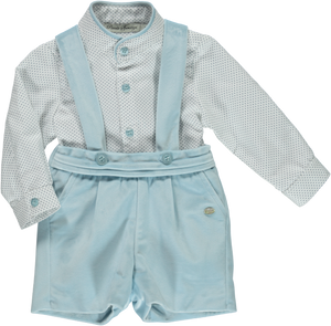 Piccola Speranza Traditional Style Baby Boys Velvet Short Set