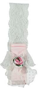 SS20 Piccola Speranza Pink & White Floral Baby Head Band