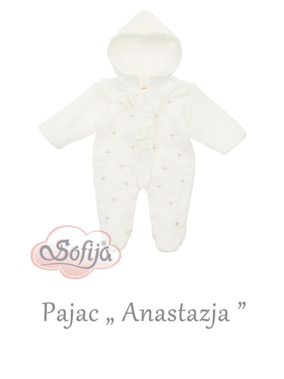Sofija Anastazja Cream Girls Padded Pramsuit