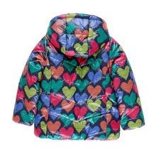 AW19 Boboli Girls Heart Print Reversible Coat - 9135