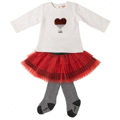 AW20 Babybol Tulle Skirt Set with Tights