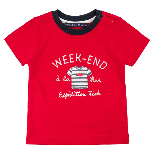 Week-End A La Mer Red Nautical T-Shirt