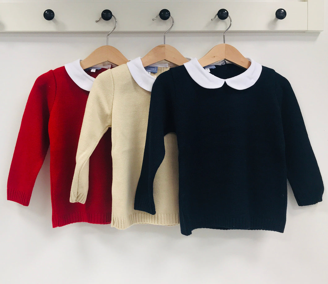 Aurea Knitted Jumper with Peter Pan Collar