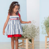 SS21 Basmarti Gladstone Frill Layer Girls Dress - 21110