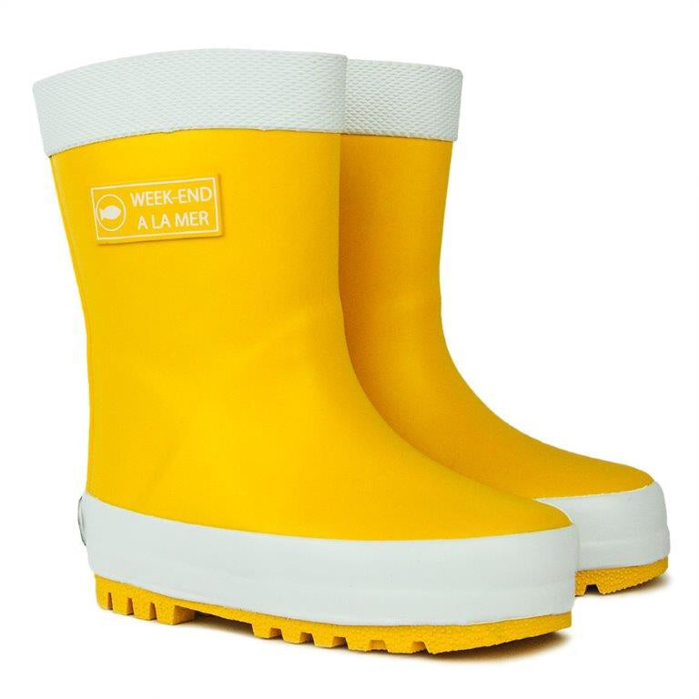 Week-end a la Mer Yellow Rain Boots
