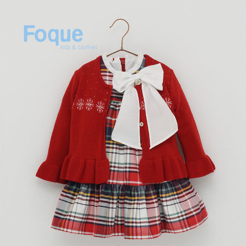 SALE AW19 Foque Red Snowflake Cardigan