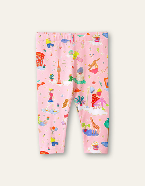 SS21 Oilily Tiska Party in the Clouds Pink Leggings