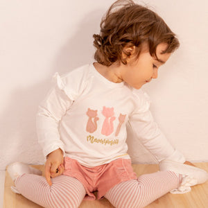 AW20 Babybol Pink & Cream Short Set with Tights