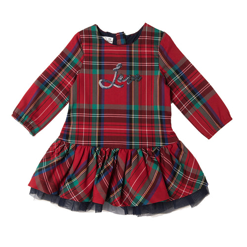 AW20 Babybol Tartan & Tulle Dress