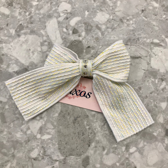 Naxos Flor Lemon Bow Clip