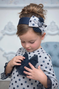 AW20 Miranda Grey & Navy Metallic Hairband - 244D