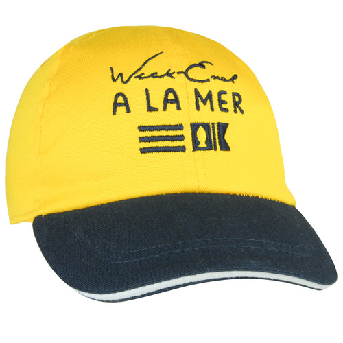 Week-End A La Mer Yellow & Navy Cap