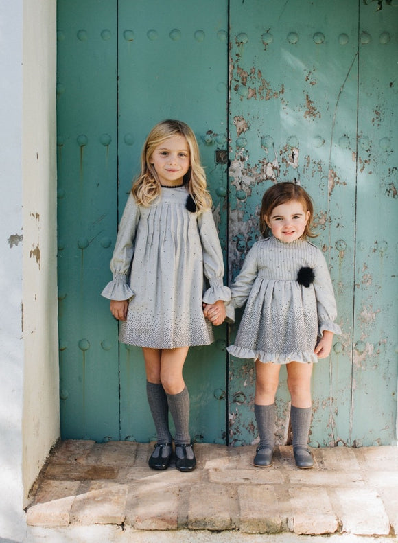 AW20 Cocote Madroños Grey & Black Dress & Bloomers