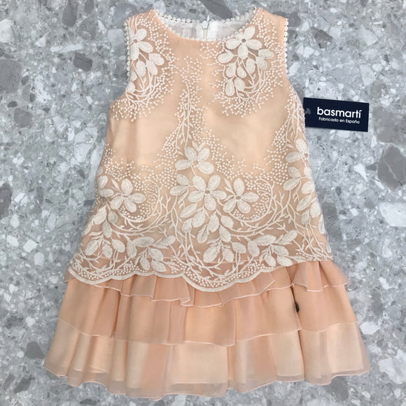 Basmarti Mount Gambier Girls Peach Dress - 21013