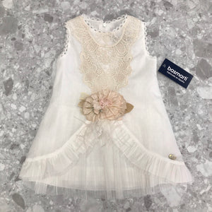 Basmarti Augusta Cream Tulle Girls Dress - 21060