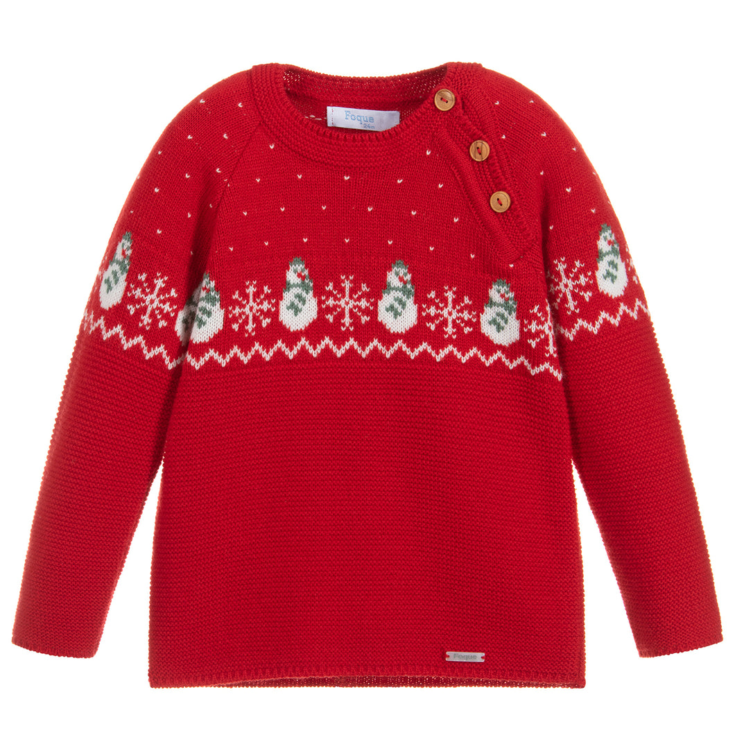 SALE Foque Red Christmas Jumper