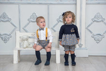 AW20 Miranda Navy & Gold Dress with Bloomers & Jumper - 151