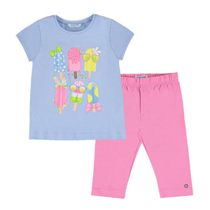 Mayoral Girls Ice Lolly Cropped Legging Set