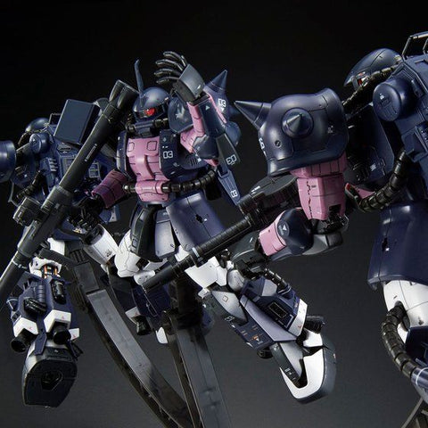 (P-Bandai) RG 1/144 MS-06R-1A Black Tri-Stars Zaku II [Triple Action Set]