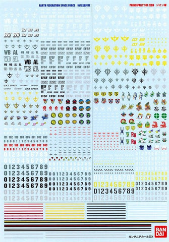 (P-Bandai) Gundam Decal DX 01 (One Year War)