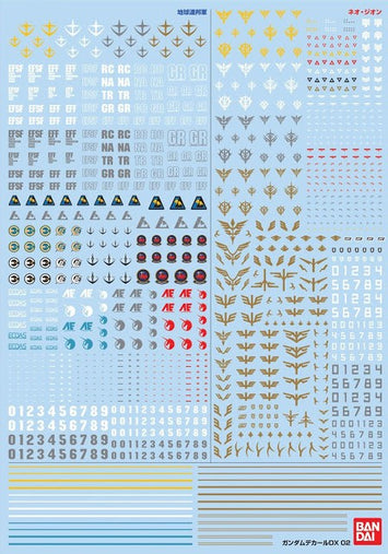 (P-Bandai) Gundam Decal DX 02 (Unicorn Series)