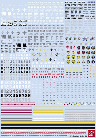 (P-Bandai) Gundam Decal DX Set of 6