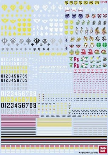 (P-Bandai) Gundam Decal DX 05 (One Year War - Zeon)