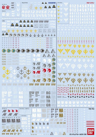 (P-Bandai) Gundam Decal DX 06 (Unicorn Series Vol 2)