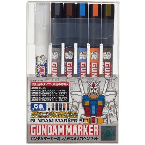 GMS122 Gundam Marker Pour Type Set of 6