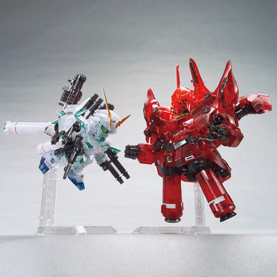 BB Senshi Gundam Base Limited Full Armor Unicorn Gundam & Neo Zeong [Clear Color]