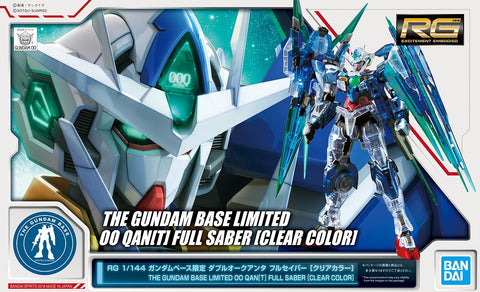 Pre-Order Gundam Base RG 00 Qan[T] Full Saber [Clear Color] - Special