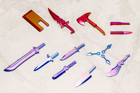 M.S.G Modeling Support Goods - Weapon Unit 34EX Knife Set Special Edition Polarization Red & Blue