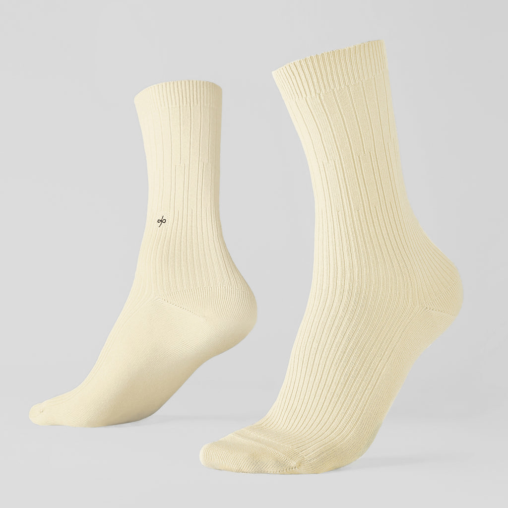 Dueple's Creme swiit Colored Left Sock