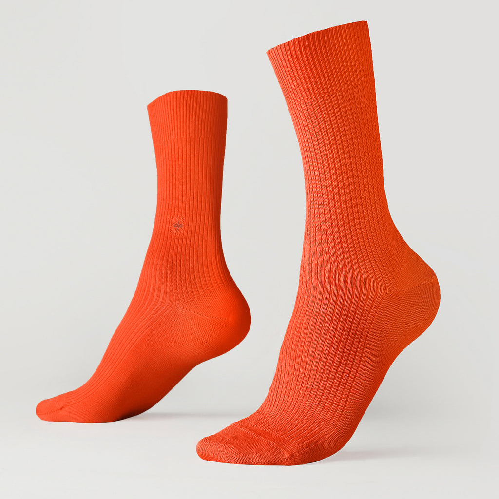Dueple's Orange Colored Left Sock