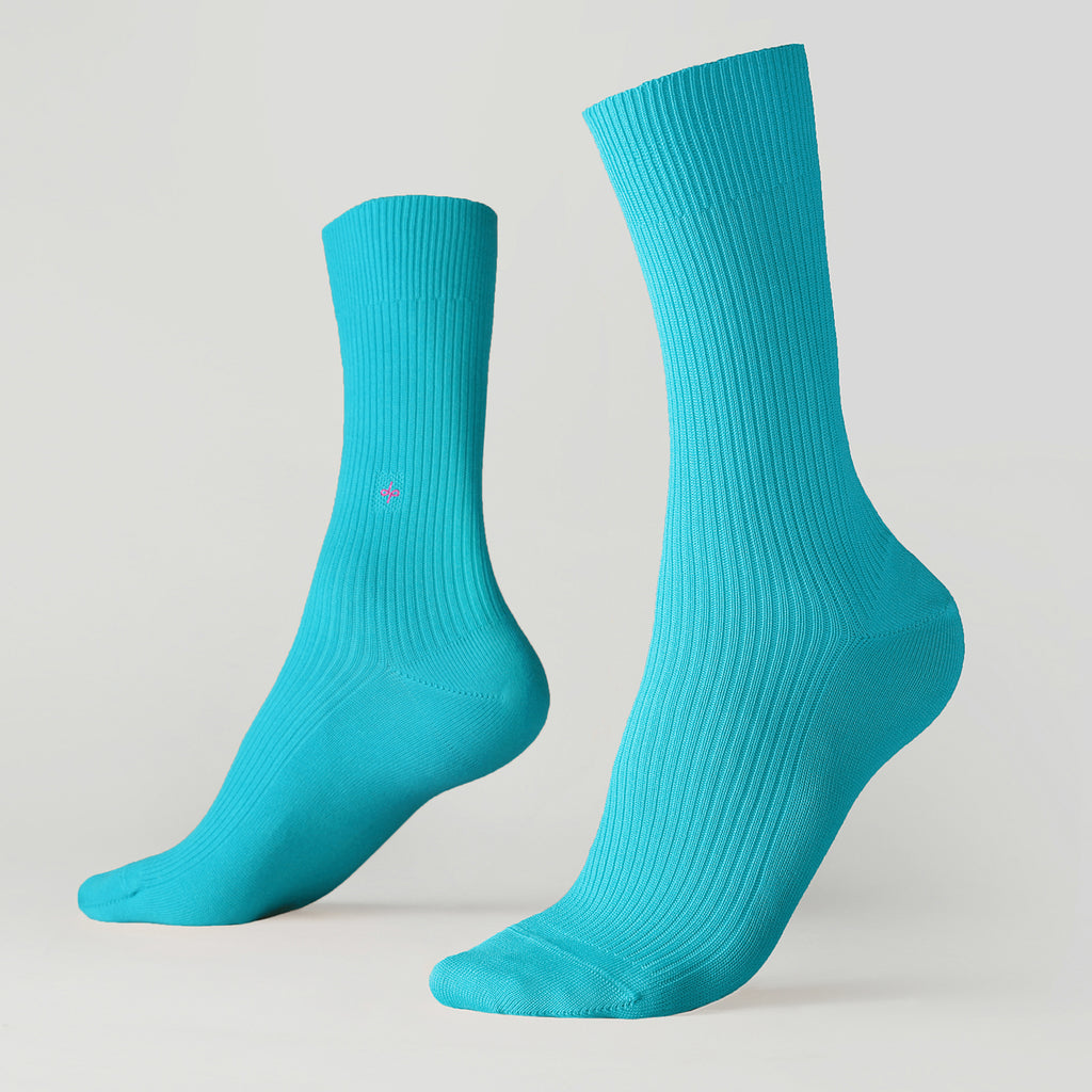 Dueple's Independent peacock Colored Left Sock