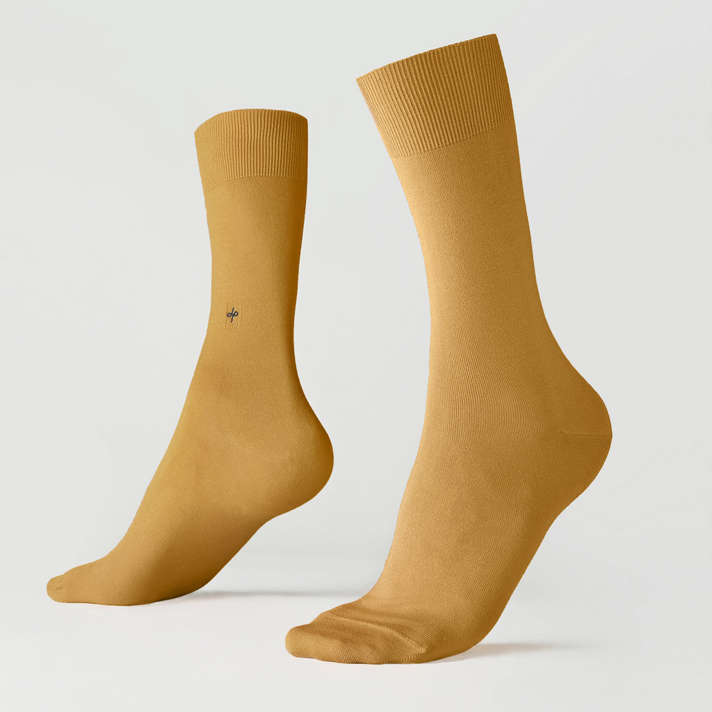 Dueple's Golden Colored Left Sock