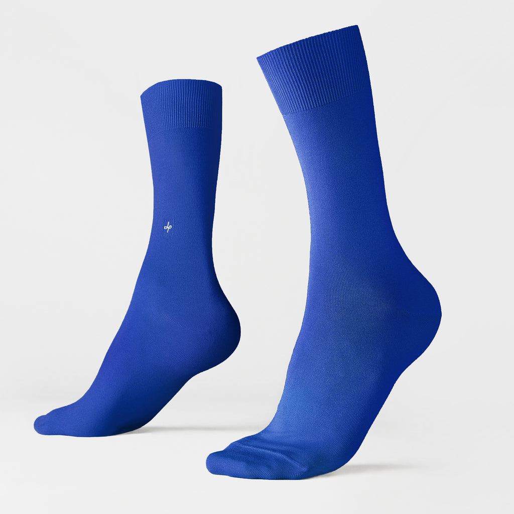 Dueple's Blue royal Colored Left Sock
