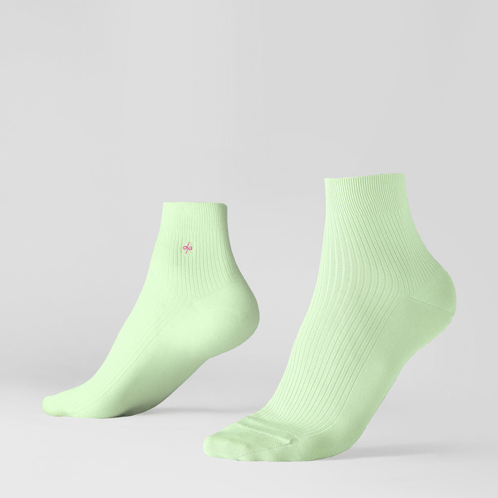 Dueple's Ankle minty pears Colored Left Sock