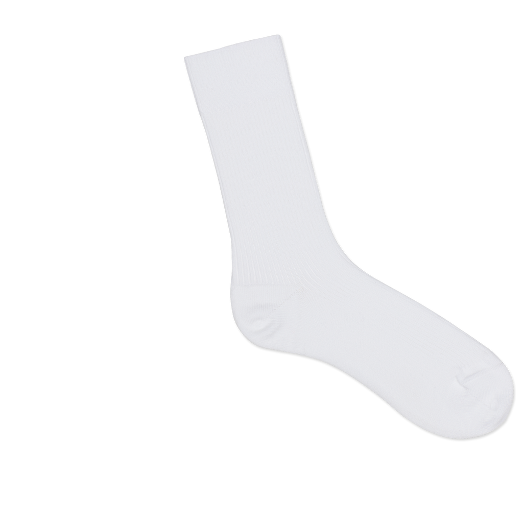 Dueple's White jack Colored Right Sock