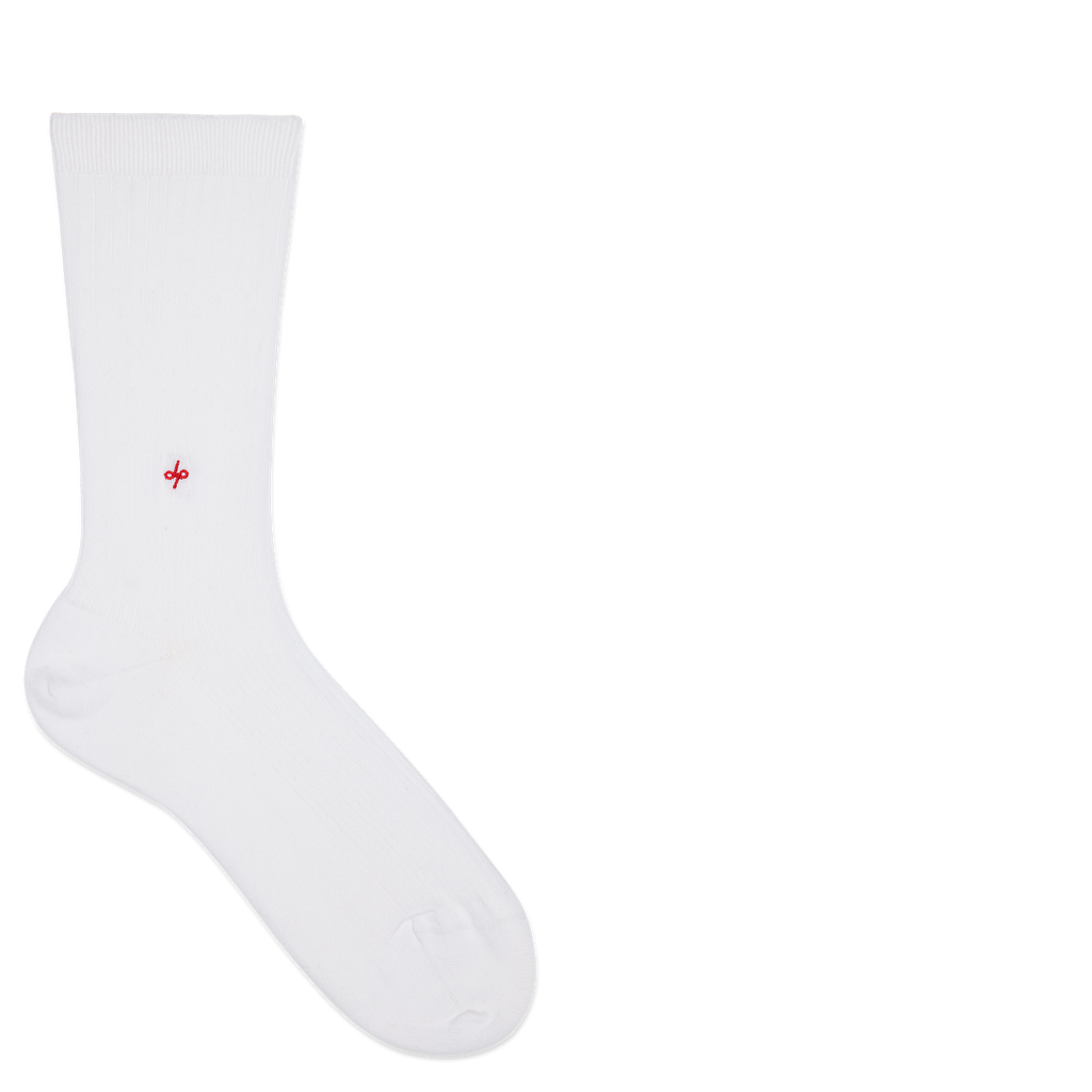 Dueple's White jack swiit Colored Left Sock