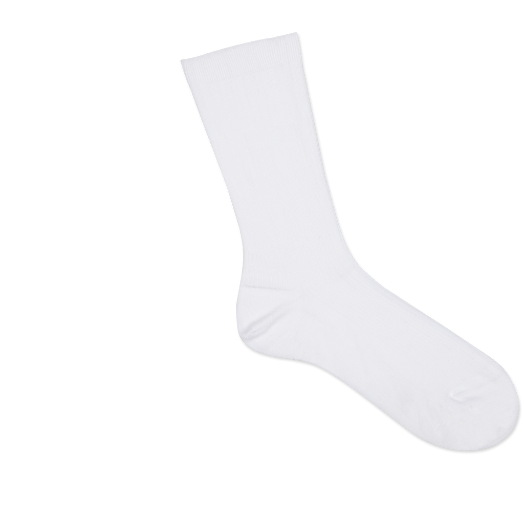 Dueple's White jack swiit Colored Right Sock