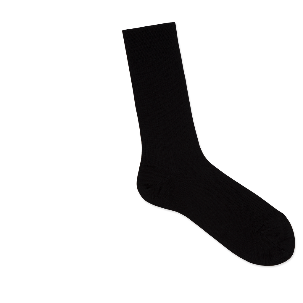 Dueple's Black star Colored Right Sock